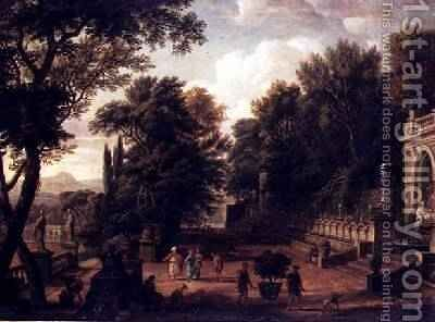 The Gardens at the Villa dEste Tivoli 1731 by Isaac de Moucheron - Reproduction Oil Painting