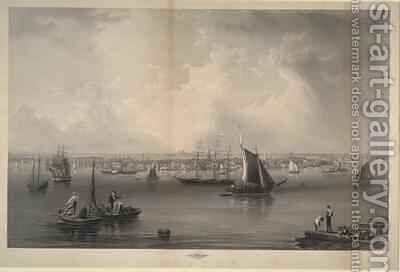 Boston Harbour 1857 by Charles Mottram - Reproduction Oil Painting