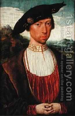 Joost van Bronkhorst by Jan Mostaert - Reproduction Oil Painting