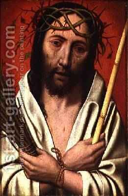 Christ Crowned with Thorns by Jan Mostaert - Reproduction Oil Painting