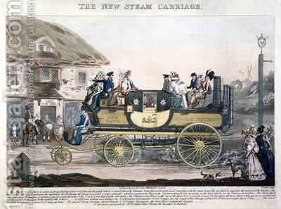 The New Steam Carriage by (after) Morton, G. - Reproduction Oil Painting