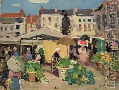 Market Scene by James Wilson Morrice - Reproduction Oil Painting