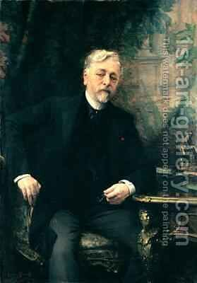 Portrait of Gustave Eiffel 1832-1923 1905 by Aimé-Nicolas Morot - Reproduction Oil Painting