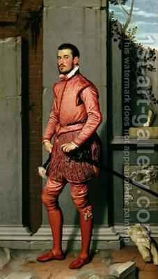 Portrait of Gian Gerolamo Grumelli Italian statesman and noble 1560 by Giovanni Battista Moroni - Reproduction Oil Painting