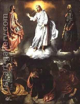 The Transfiguration by Giovanni Battista Moroni - Reproduction Oil Painting