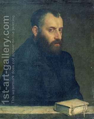 Portrait of a man with a book by Giovanni Battista Moroni - Reproduction Oil Painting