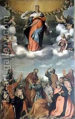 The Assumption of the Virgin by Giovanni Battista Moroni - Reproduction Oil Painting