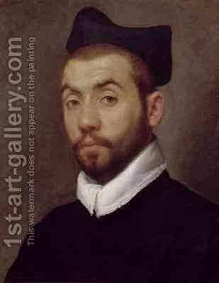 Portrait of a Man presumed to be Clement Marot by Giovanni Battista Moroni - Reproduction Oil Painting