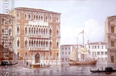 The Ca Foscari Venice by (after) Moro, Marco - Reproduction Oil Painting