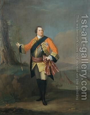 William Augustus 1721-65 Duke of Cumberland 1750 by David Morier - Reproduction Oil Painting