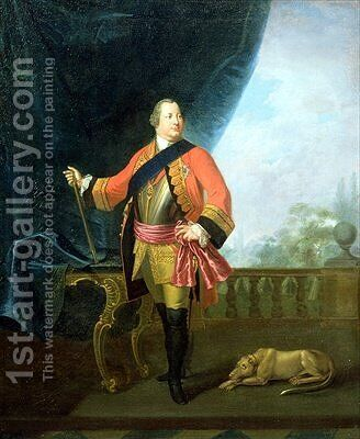 Portrait of William Augustus 1721-65 Duke of Cumberland by David Morier - Reproduction Oil Painting