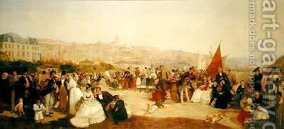 "A Day at Boulogne 1870 by Matthew ""Matt"" Somerville Morgan - Reproduction Oil Painting"