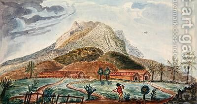 View of Mount Pelee facing South 1815 by de Jones Moreau - Reproduction Oil Painting