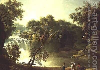 Cora Lynn the Falls from the Clyde by Jacob More - Reproduction Oil Painting