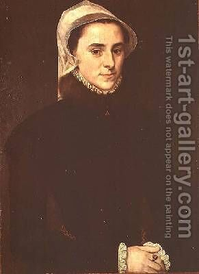 Portrait of Jeanne Lullier 1557 by Anthonis Mor Van Dashorst - Reproduction Oil Painting