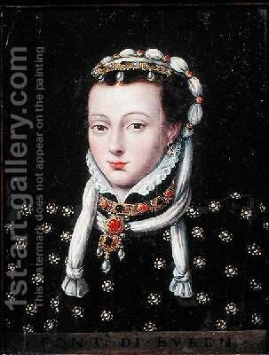 Portrait of Anne de Buren by Anthonis Mor Van Dashorst - Reproduction Oil Painting