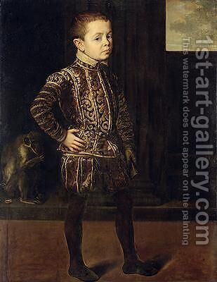 Portrait of a Noble Knave 1548 by Anthonis Mor Van Dashorst - Reproduction Oil Painting