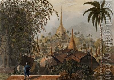 View of the Great Dagon Pagoda and Adjacent Scenery Taken on the Eastern Road from Rangoon by (after) Moore, Joseph - Reproduction Oil Painting