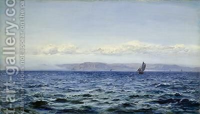 Light Breeze off Dodman at Mevagissey Cornwall 1881 by Henry Moore - Reproduction Oil Painting
