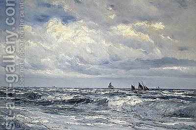 Looking out to Sea 1888 by Henry Moore - Reproduction Oil Painting