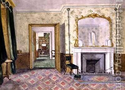 Michael Faradays flat at the Royal Institution 1850-55 by Harriet Jane Moore - Reproduction Oil Painting