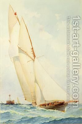 Schooner under Sail by Barlow Moore - Reproduction Oil Painting