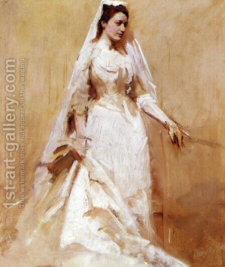 A Bride by Abbott Handerson Thayer - Reproduction Oil Painting