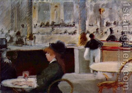 Interior of a Cafe by Edouard Manet - Reproduction Oil Painting