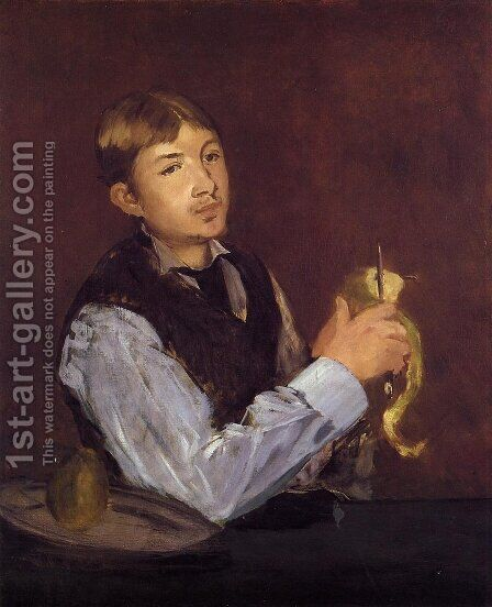 Portrait of Leon Leenhoff by Edouard Manet - Reproduction Oil Painting