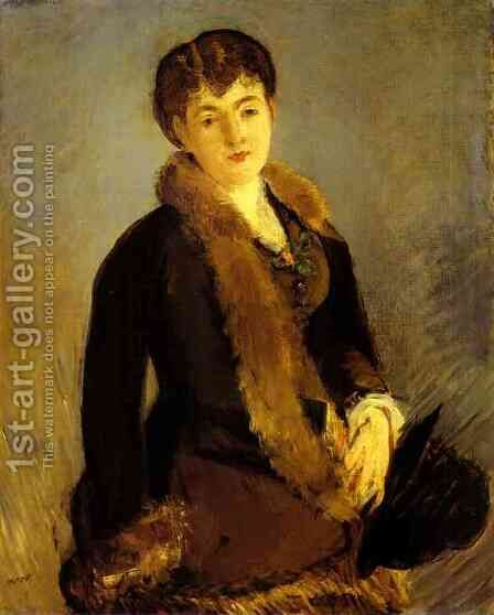Portrait of Mlle Isabelle Lemonnier by Edouard Manet - Reproduction Oil Painting