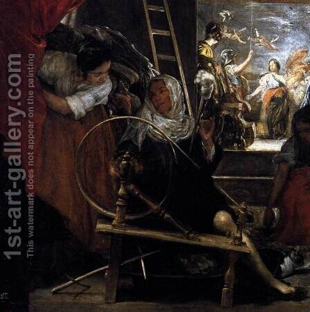 The Fable of Arachne (detail) by Velazquez - Reproduction Oil Painting