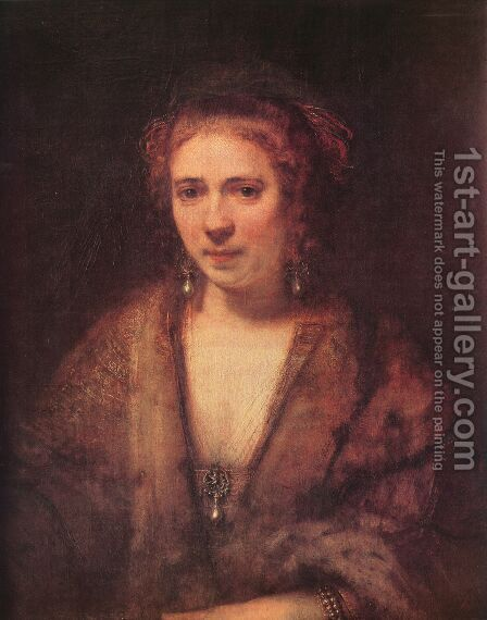 Portrait of Hendrickje Stoffels by Rembrandt - Reproduction Oil Painting