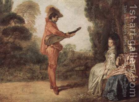 L'Enchanteur by Jean-Antoine Watteau - Reproduction Oil Painting