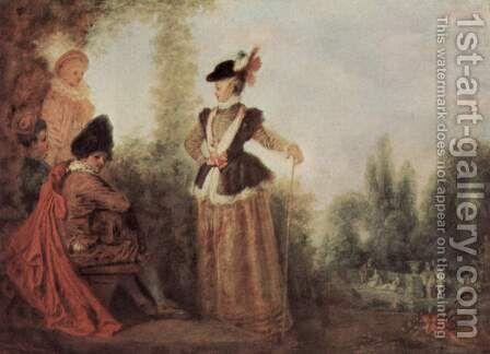 The adventuress by Jean-Antoine Watteau - Reproduction Oil Painting