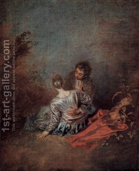 The lucky case by Jean-Antoine Watteau - Reproduction Oil Painting
