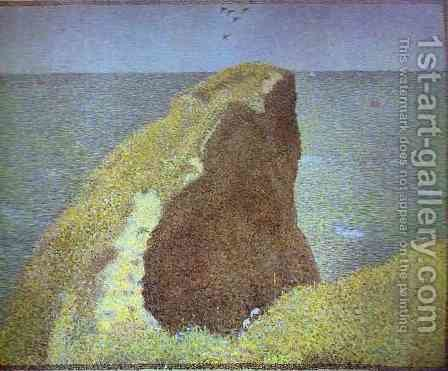 Le Bec du Hoc, Grandcamp by Georges Seurat - Reproduction Oil Painting