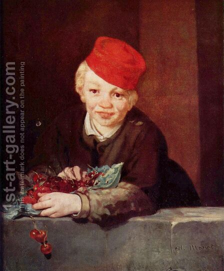 Boy with cherries by Edouard Manet - Reproduction Oil Painting