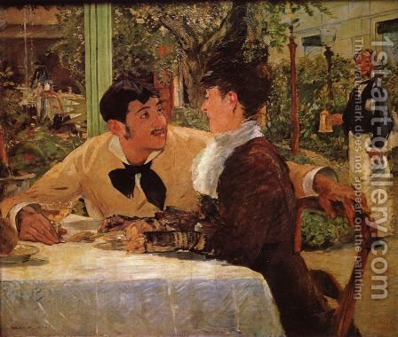 In Père Lathuille by Edouard Manet - Reproduction Oil Painting