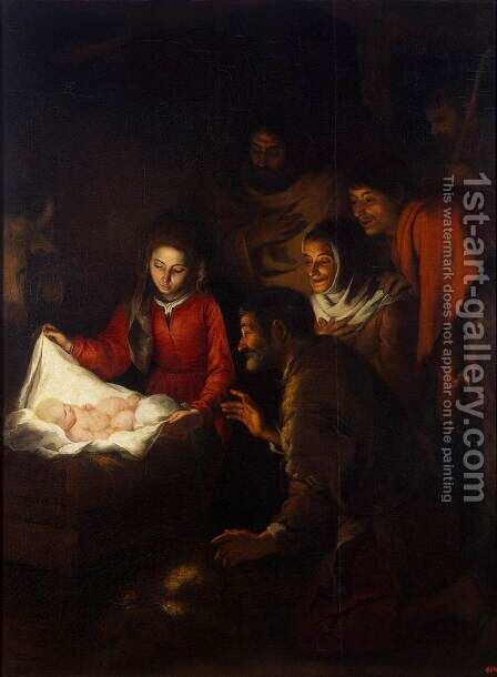 Adoration of the Shepherds by Bartolome Esteban Murillo - Reproduction Oil Painting