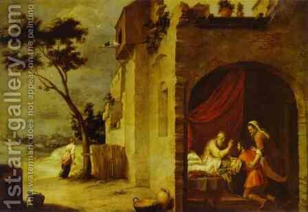 Isaac Blessing Jacob by Bartolome Esteban Murillo - Reproduction Oil Painting