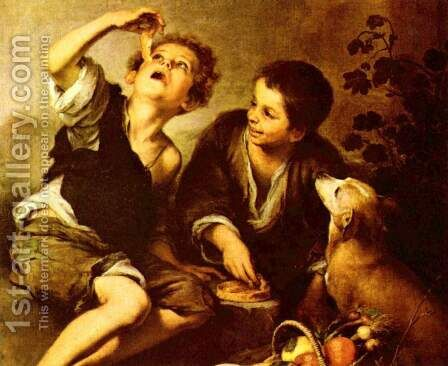 Kuchenesser by Bartolome Esteban Murillo - Reproduction Oil Painting