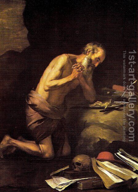 Saint Jerome by Bartolome Esteban Murillo - Reproduction Oil Painting