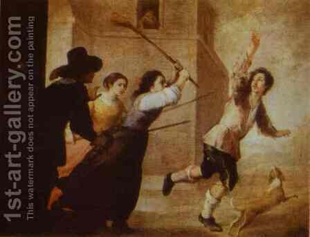 The Prodigal Son Driven Out by Bartolome Esteban Murillo - Reproduction Oil Painting