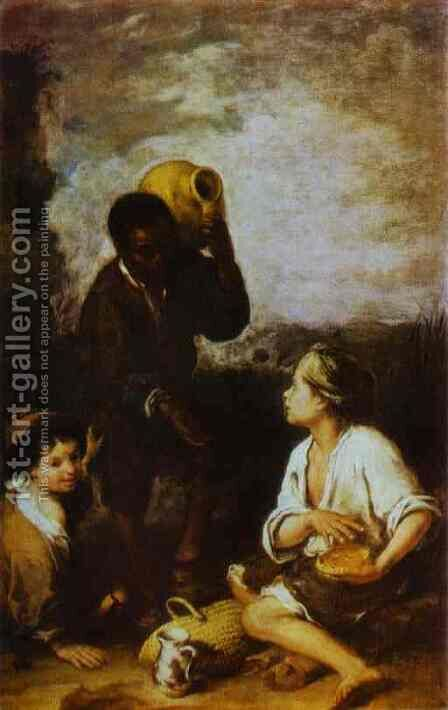 Three Boys by Bartolome Esteban Murillo - Reproduction Oil Painting