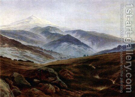 Giant mountains by Caspar David Friedrich - Reproduction Oil Painting