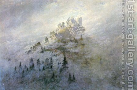 Morning fog in mountains by Caspar David Friedrich - Reproduction Oil Painting