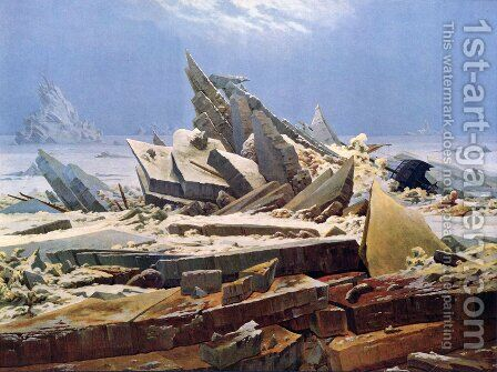 Polar sea (The destroyed hope) by Caspar David Friedrich - Reproduction Oil Painting