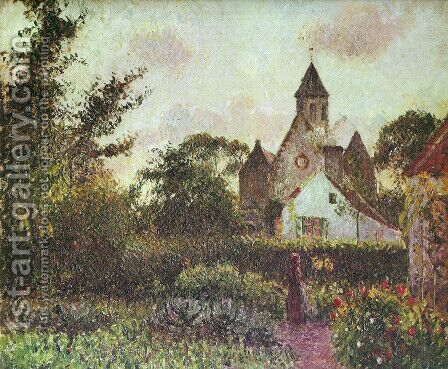 Knocke church by Camille Pissarro - Reproduction Oil Painting