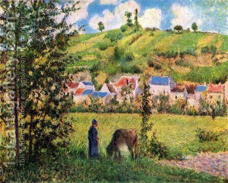 Kuhhirtin by Camille Pissarro - Reproduction Oil Painting