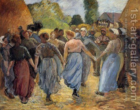 La Ronde 1 by Camille Pissarro - Reproduction Oil Painting